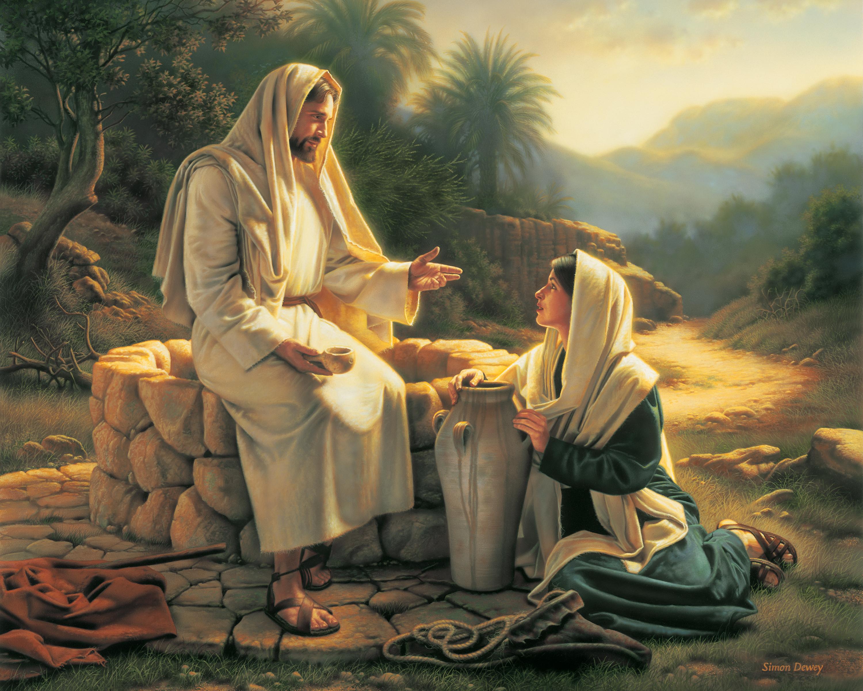 Jesús y la mujer Samaritana.